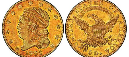 Historic 1822 Half Eagle Gold Coin Sells for Record-Breaking $8.4 Million